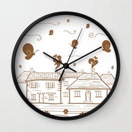 Butterflies'home Wall Clock
