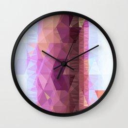 Lavender Purple Abstract Geometric Triangle Polyglen Wallart Illustration Wall Clock