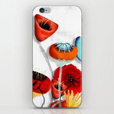 Ranunculus Poppies Anemone Bouquet iPhone & iPod Skin