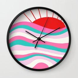 sunrise surf | 80's Wall Clock