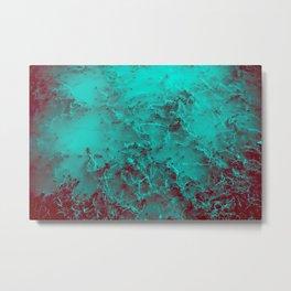 Under the Sea | Teal + Red Metal Print