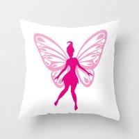 fairy Throw Pillows featuring fairy by Li-Bro
