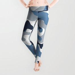 Blue and White Camo Leggings