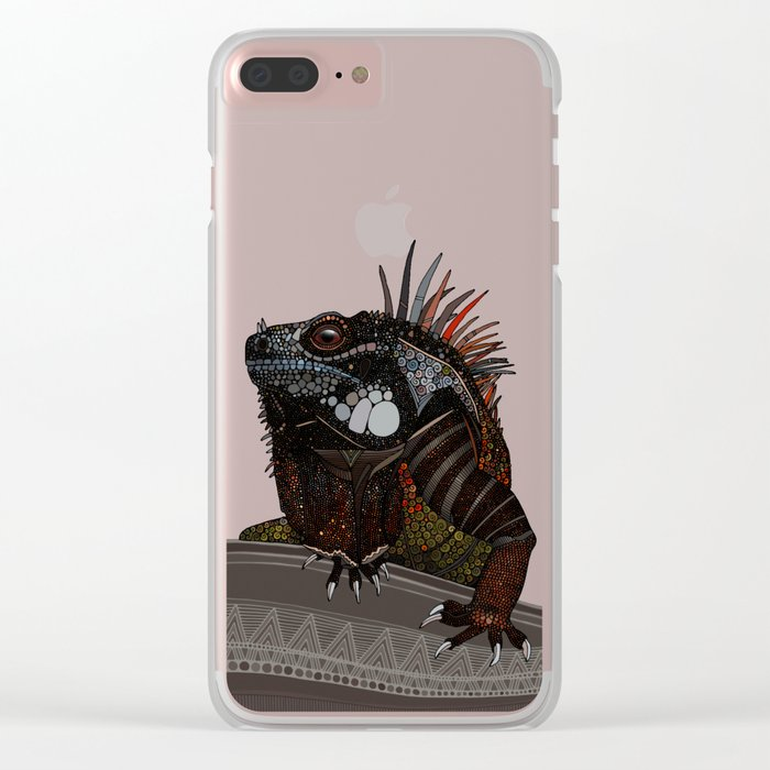 iguana ecru Clear iPhone Case