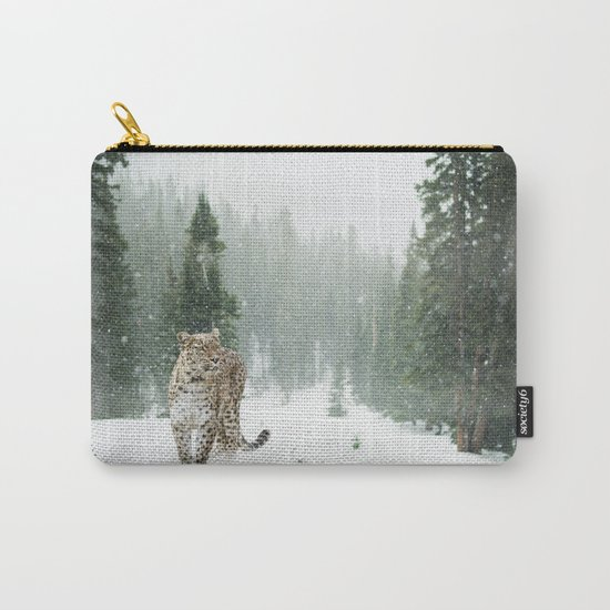 Leopard in the Snow Carry-All Pouch