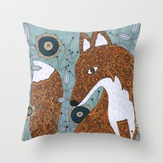 The Secret Visitor Throw Pillow