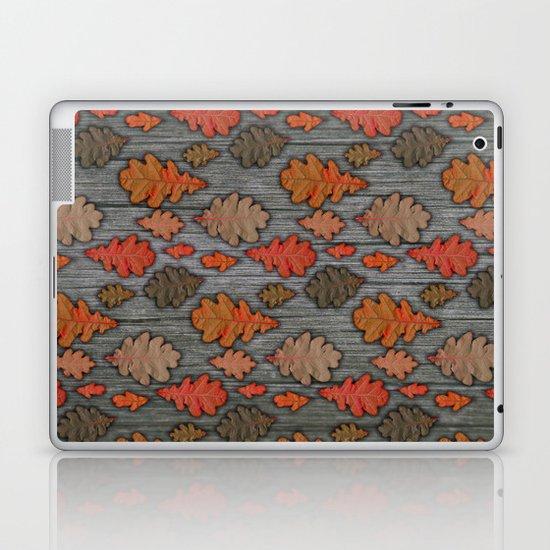 Patterns of Nature - Autumn Oak Leaves Laptop & iPad Skin