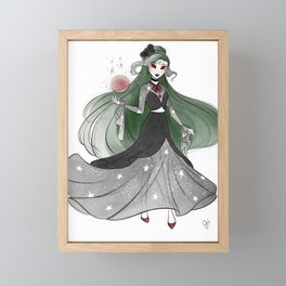 Witchy Pluto Framed Mini Art Print