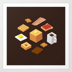 Isometric Breakfast Art Print