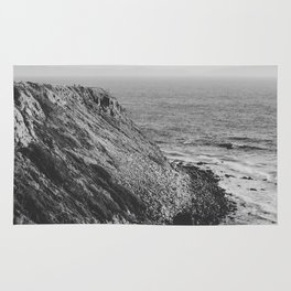 Point Vicente - California Coast - Black & White Version Rug
