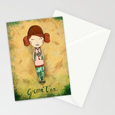Green Tea Girl Stationery Cards
