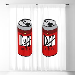 Duff Beer Can Blackout Curtain