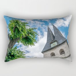 Tree & Bell Tower Rectangular Pillow