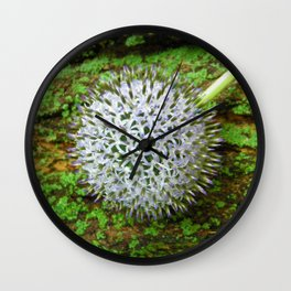 Globe Thistle. Wall Clock