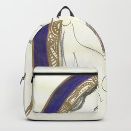 Blue Lady Backpack