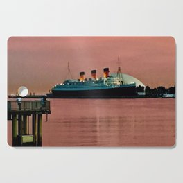 The Queen Mary at Dusk Cutting Board