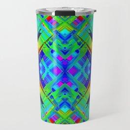 Colorful digital art splashing G476 Travel Mug