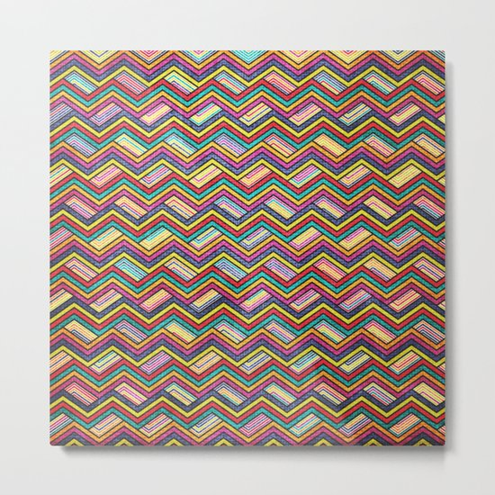 Seamless Colorful Geometric Pattern XVII Metal Print