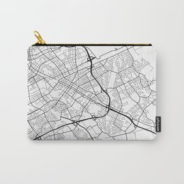 Kitchener Map, Canada - Black and White Carry-All Pouch