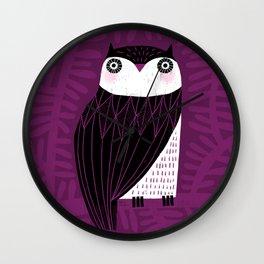 BLACK & WHITE OWL Wall Clock