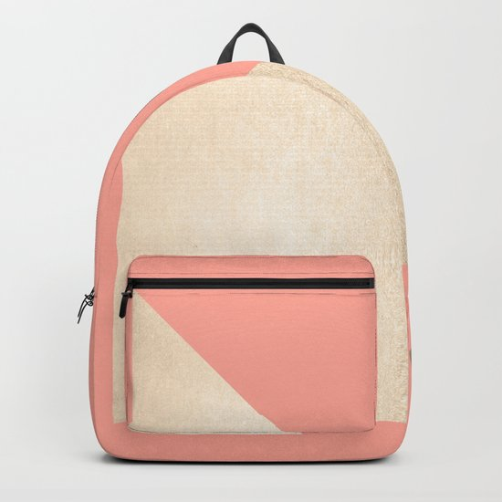 Simply Shadow in White Gold Sands on Salmon Pink Backpack