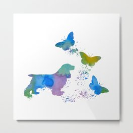 Cocker Spaniel Art Metal Print