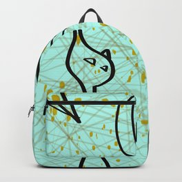 Mid Century Modern Cool Cats - Aqua Backpack