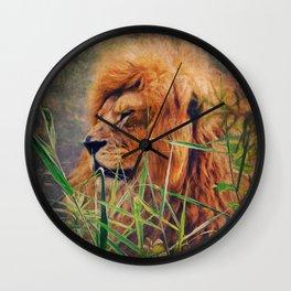 A  Lion portrait Wall Clock