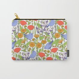 Birds and Wild Blooms Carry-All Pouch
