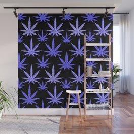 Marijuana Violet Blue Weed Wall Mural