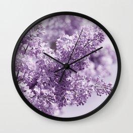Lilac 166 Wall Clock