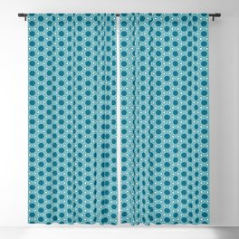 Abstract Turquoise Pattern 3 Blackout Curtain