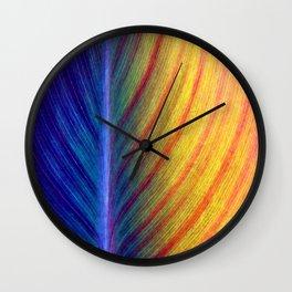 Indian Canna Lily Leaf Macro Wall Clock