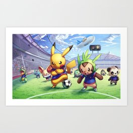Pokémon League Art Print