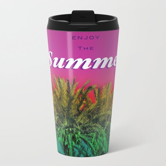 Enjoy the Summer with Palms Metal Travel Mug