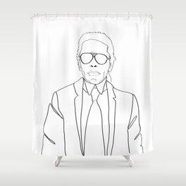 Karl Lagerfeld portrait Shower Curtain