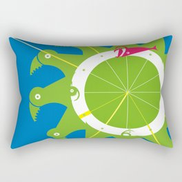 The Nums Wheel Rectangular Pillow