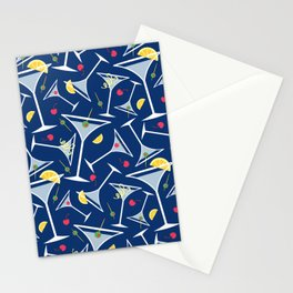 Blue Martinis Stationery Cards