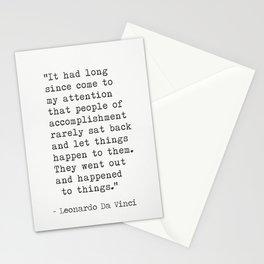 Leonardo Da Vinci quote 2 Stationery Cards