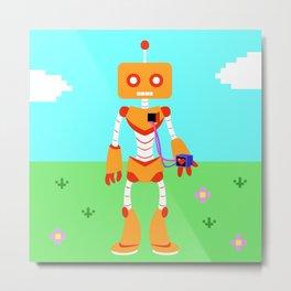 A Loving Robot Metal Print