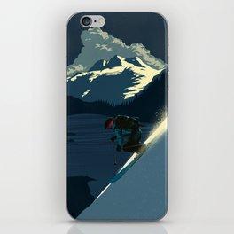 Revelstoke skiing iPhone Skin