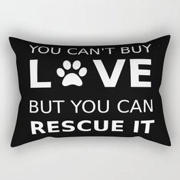 Animal rescue love Rectangular Pillow