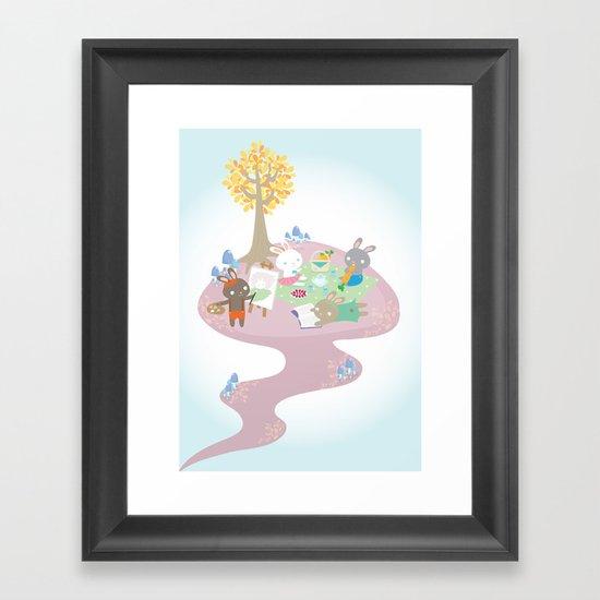picnic day Framed Art Print