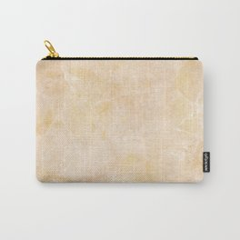 Gold Marble Natural Stone Gold Metallic Veining Pink Beige Quartz Carry-All Pouch