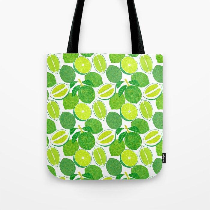 Lime Harvest Tote Bag