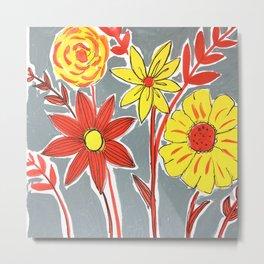 Contemporary florals Metal Print