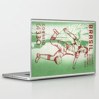 soccer Laptop & iPad Skins featuring Soccer king by Irène Sneddon