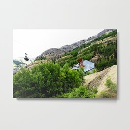 Ore Bucket from the Mayflower Mine, High on the Opposite Mountainside across the Animas River Metal Print