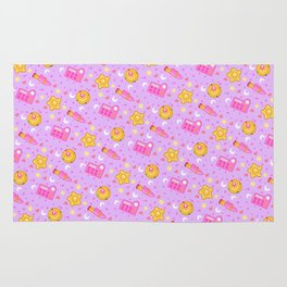 Usagi's Items Pattern / Sailor Moon  Rug