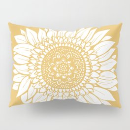 Yellow Sunflower Drawing Pillow Sham